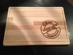houten plank als bedankje
