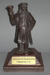 Tekstplaatje op trofee