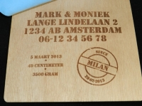 MODEL STEMPEL FOAM BINNENKANT