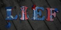 Piepschuim letters LIEF